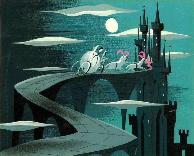 Cinderella (1950) - concept art by GOLDEN BOOKS' Mary Blair