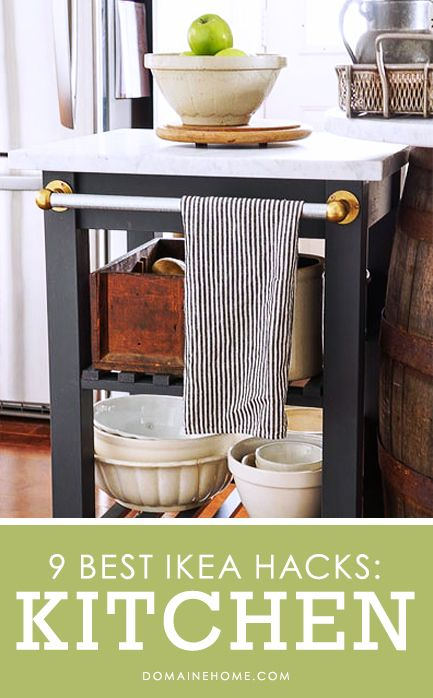 9 AWESOME Ikea hacks for your kitchen. You would never know these pieces are from Ikea! #kitchen #home #decorIdeas, Kitchen Carts, Kitchens Islands, Carts Hacks, Kitchens Carts, Ikea Hacks, Ikea Kitchens, Kitchen Islands, Diy