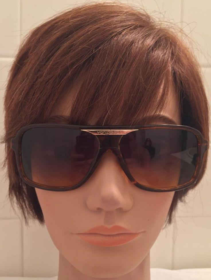 Vintage VonZipper Aviator Style Unisex Sunglasses Retro Stachi Brown Tortoise #VonZipper #Aviator #Everyday