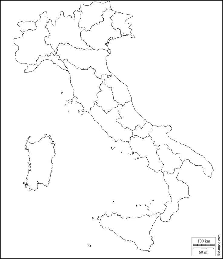 Cartina Dell Italia Solo Contorno.Italia Mappa Gratuita Mappa Muta Gratuita Cartina Muta Gratuita Contorni Regioni Bianco Mappa Bambini Geografia Geografia Mondo