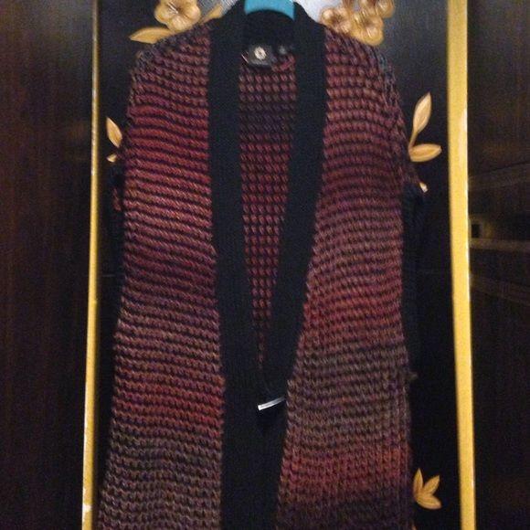 Vest Multi color vest Amber Sun Sweaters Shrugs & Ponchos
