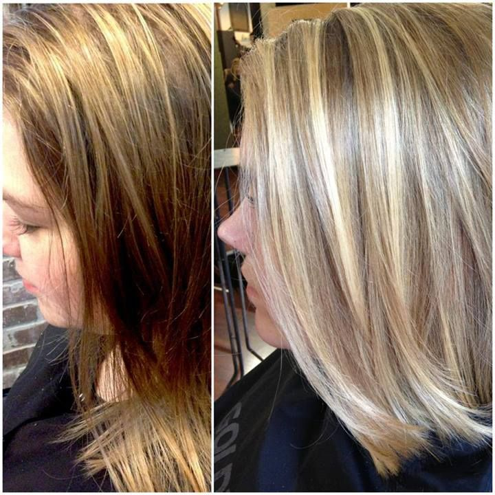 Balayage Before And After By Olive At City Salon And Spa
