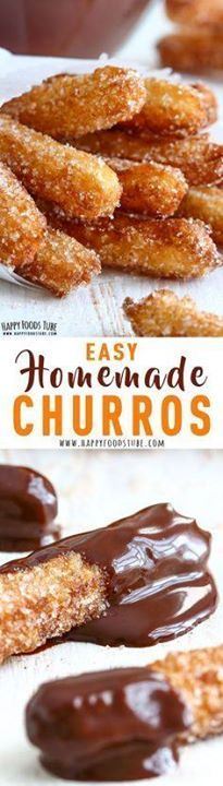 Have you ever tasted Have you ever tasted authentic Spanish...  Have you ever tasted Have you ever tasted authentic Spanish churros? If not put them on your bucket list or make these homemade churros to satisfy your sweet tooth cravings right away! How to make churros at home. #churros #spanish #dessert via Happy Foods Tube Recipe : http://ift.tt/1hGiZgA And @ItsNutella  http://ift.tt/2v8iUYW