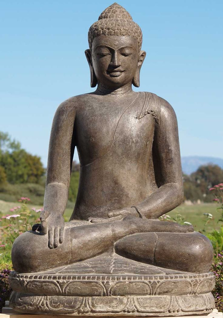 Masterpiece Stone Buddha Sculpture 45""