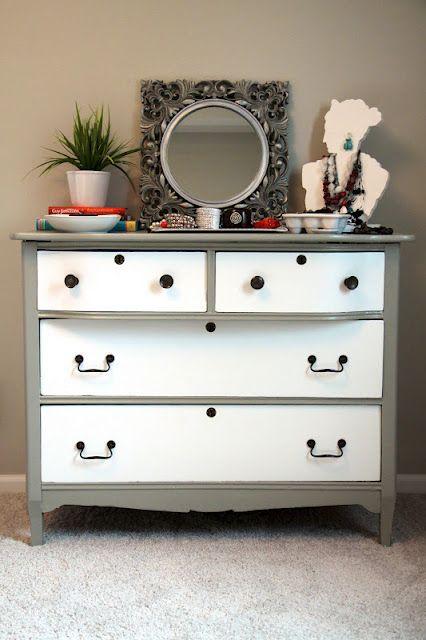 refurbished hand-me-down dresser.
