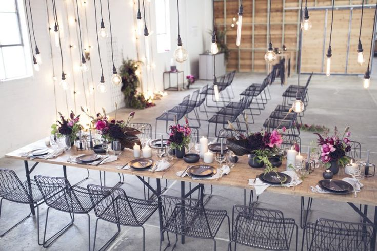Modern industrial warehouse wedding inspiration