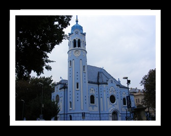Elisabeth church in Bratislava, Slovakia, a masterpiece of Ödön Lechner