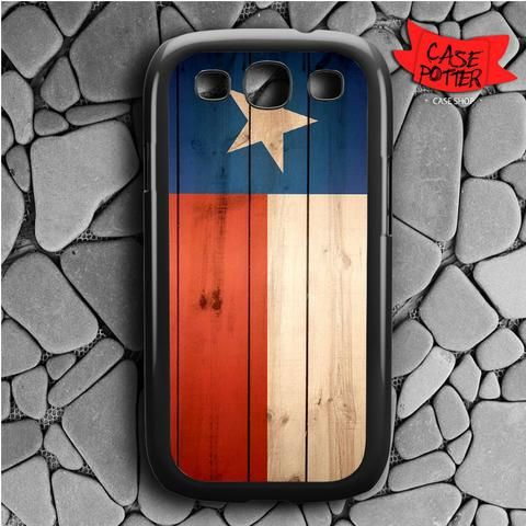 Texas State Flag Wood Samsung Galaxy S3 Black Case