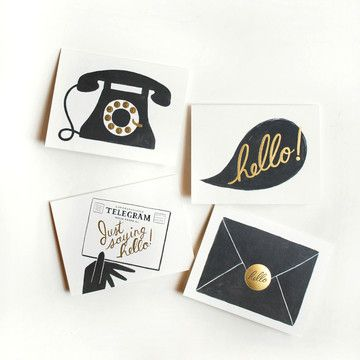 Foil Hello Card 8 Pack, Rifle Paper Co.