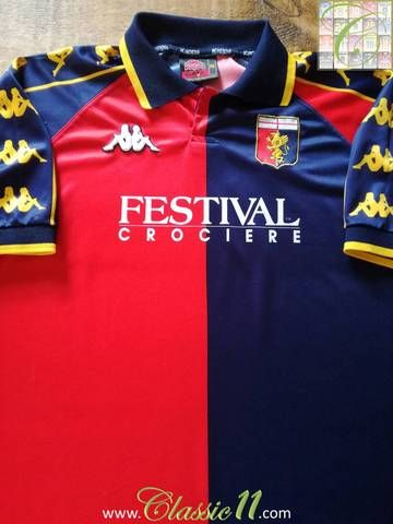 Official Kappa Genoa home football shirt from the 1999/00 season.