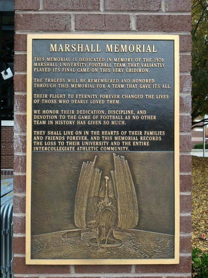 The Fountain In Memory Of Plane Crash Victims Will Soon Be Turned Off For The Marshall Thundering Herd Football Marshall University Football Marshall Football