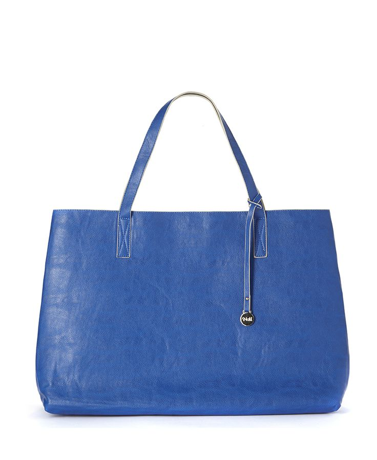 #borsa in ecopelle double color blu