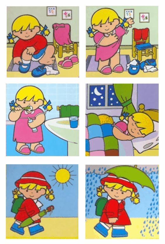 Sequenze di azioni quotidiane - Baby-flash   DİLLER   Le ...