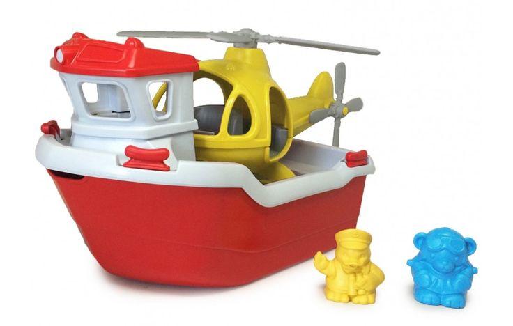 Green Toys mentőhajó helikopterrel - Green Toys