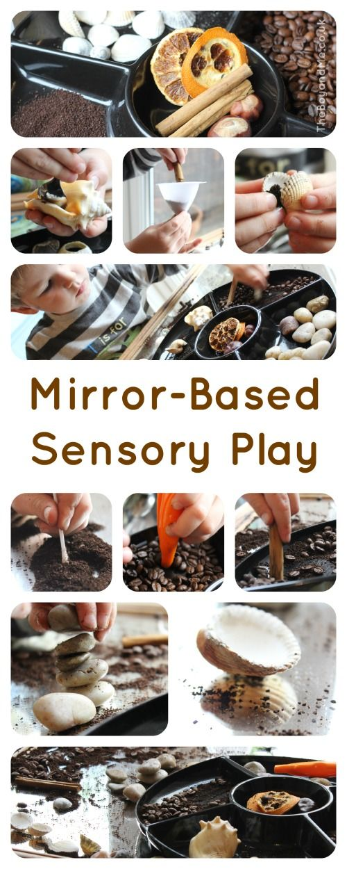 Mirror-Based Sensory Play (using kitchen and household ingredients and resources)