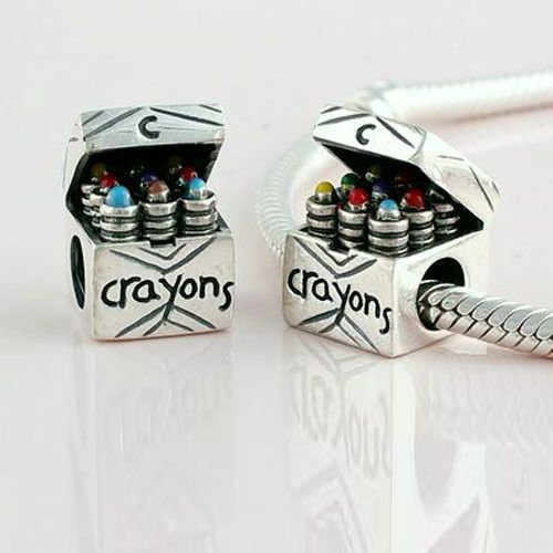 Colorful Drawing Crayons gift for Kids 925 Sterling Silver charm DIY Making Bead Original Jewelry Suitable for Pandora Bracelet US $22.79