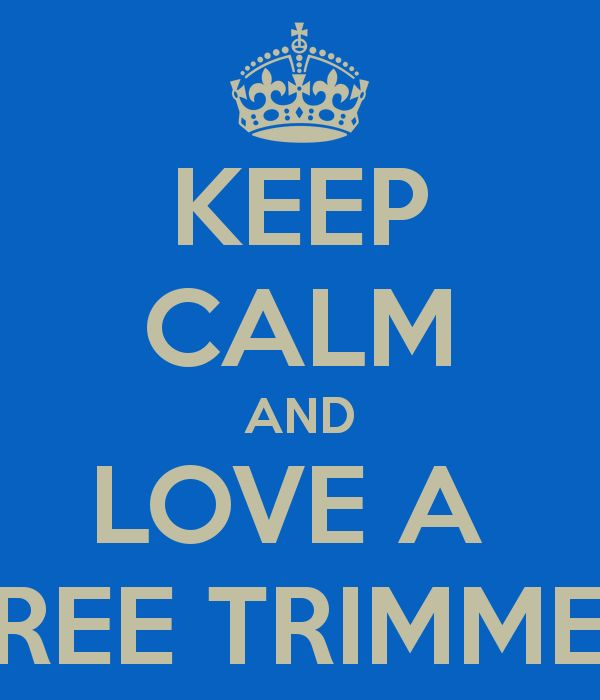 KEEP CALM AND LOVE A  TREE TRIMMER! Made this for the love of my life today!!