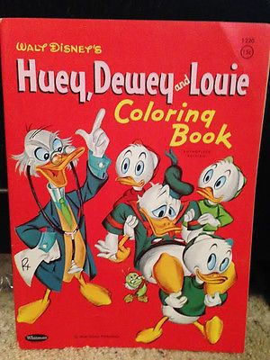 Ludwig Von Drake Huey Dewey And Louie Unused 1961 Whitman Coloring Book