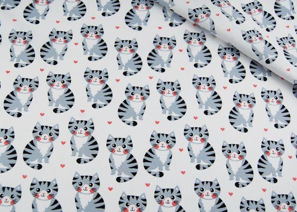 Śliczna tkanina w kotki: materialki.pl