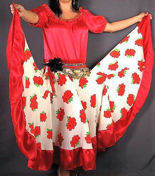SALE Gypsy skirtFlamenco skirtBelly danceBelly dance