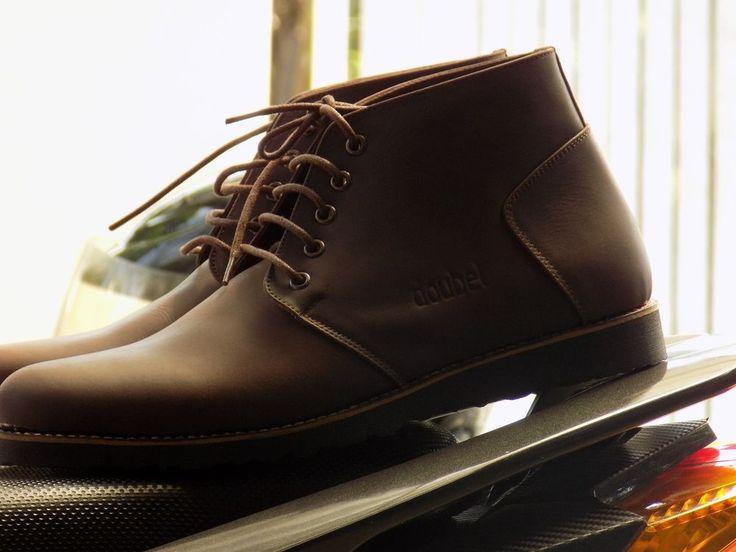 dark brown ankle boot mens shoes #mrdoubelmenfootwear #AnkleBoots