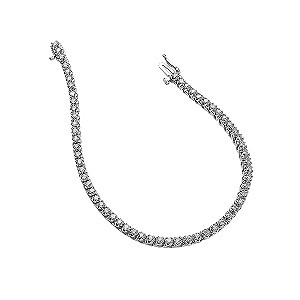 18ct white gold two carat diamond tennis bracelet. Mine is like this.