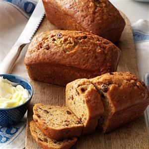 Sweet Potato Cinnamon Bread Recipe -My family loves quick breads. This one is moist and spicy. If you don't have mini loaf pans it works just as well in regular size pans. —Nancy Foust, Stoneboro, Pennsylvania