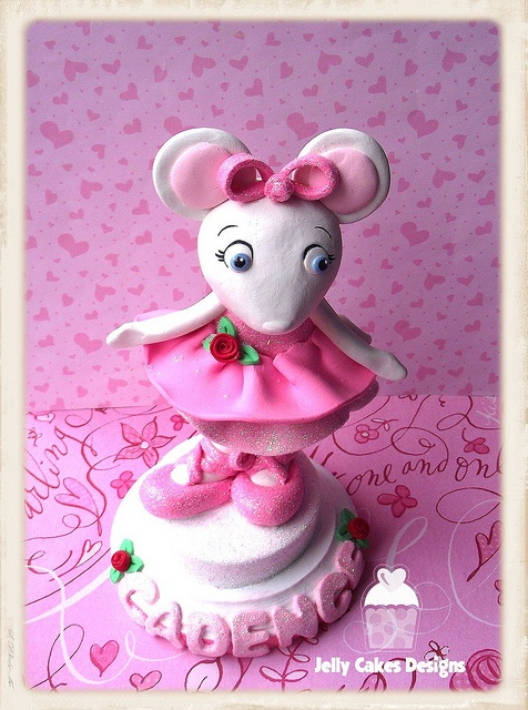 Tasty ballerina cakes recipes on pinterest ballet cakes for Angelina ballerina edible cake topper decoration sale