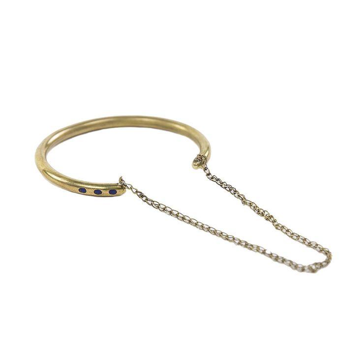 Bronze & Lapis Bracelet - Afghanistan | Far & Wide Collective