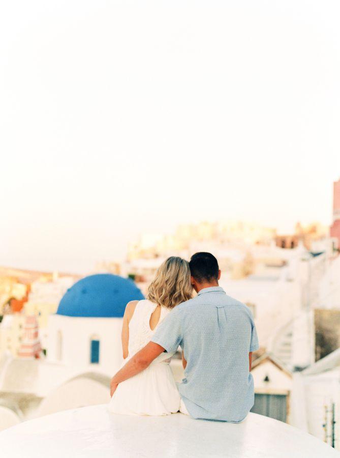 Together forever: http://www.stylemepretty.com/destination-weddings/2016/08/23/santorini-engagement-session/ Photography: Melanie Nedelko - http://www.melanienedelko.com/