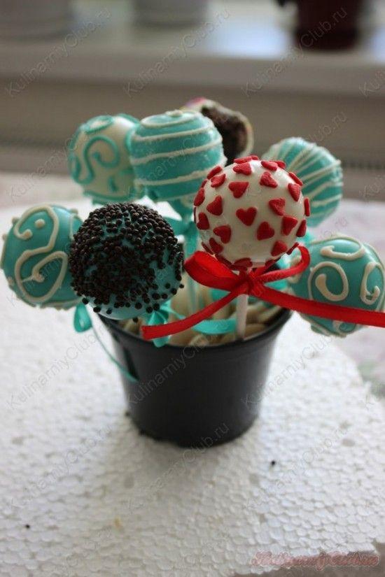 Кейк попсы с нутеллой и печеньем орео on http://kulinarniyclub.ru Oreo & Nutella cake pops