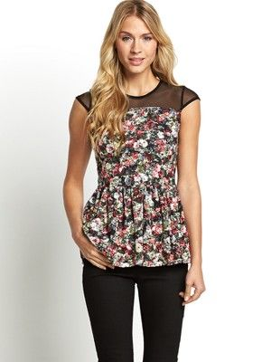 Floral Printed Lace Top, http://www.littlewoods.com/south-floral-printed-lace-top/1398395490.prd