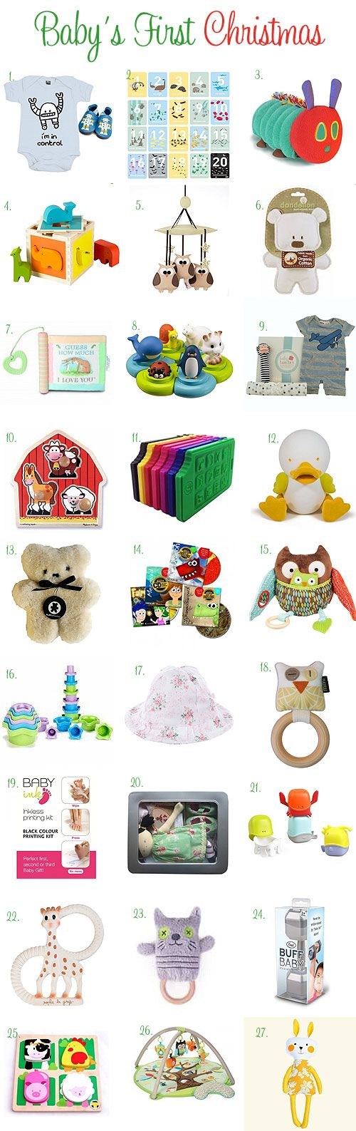 Baby's First Christmas - Gift ideas for bubs