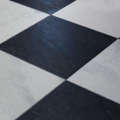 Innovations black and white chess slate 8 mm thick x 11 3 for Checkered laminate flooring