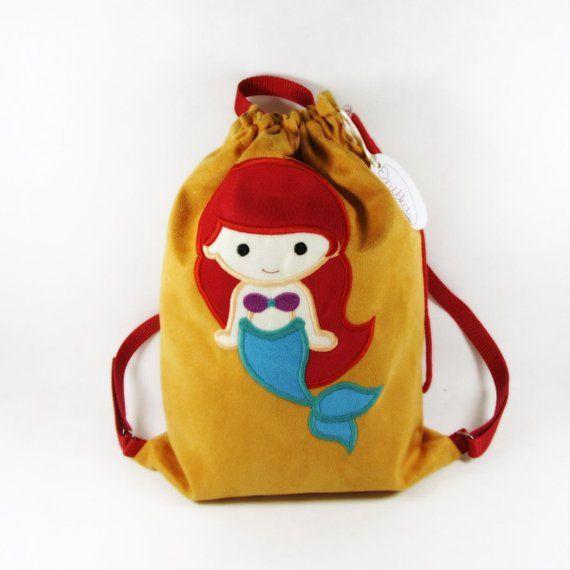 Plecak Z Arielka Worek Z Arielka Plecak Przedszkolaka Plecak Z Imieniem Worek Na Buty Personalizowany Prezent Personalizowany Pleca Baby Gifts Etsy Gifts