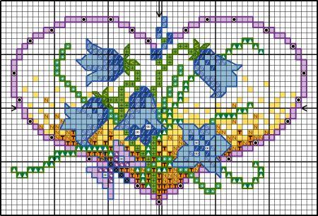 BLOG  flower hearts - bluebells