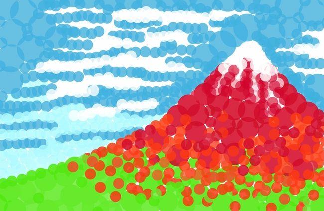 テレビでも話題の丸シールアート! 今回は丸シールアートのプロ芸術家さんや、おうちでかんたんにできる丸シールアートの作り方をご紹介します。