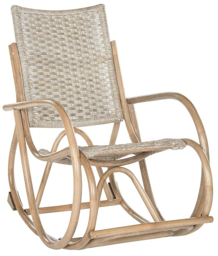 Inspired by the timeless Bauhaus aesthetic of the design classic created by Michael Thonet, this modern wicker rocking chair is a designer favorite. Its finely crafted grey or brown frame offers a warm, exotic interpretation of the modern marvel.