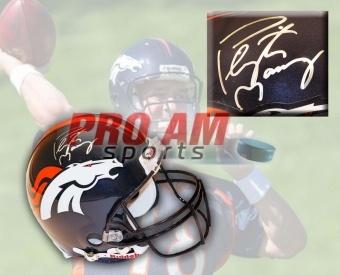 Peyton Manning Denver Broncos Signed NFL Riddell Replica Helmet - Denver Broncos - other  To order or for more information or pricing please contact info@roadgearsports.com