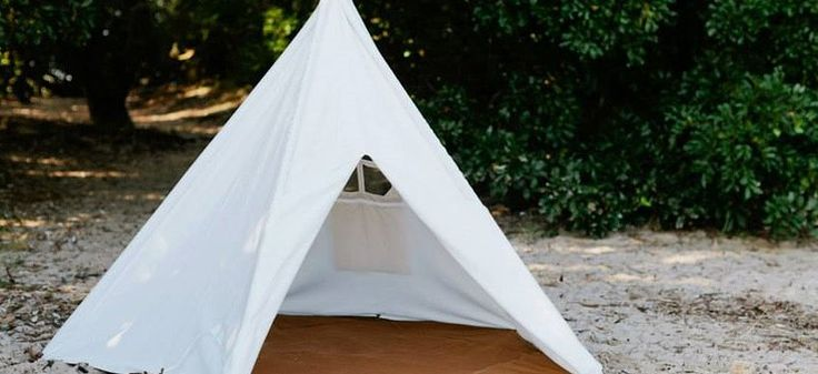 Camp in your own back yard! A portable tee pee for maximum summer fun.