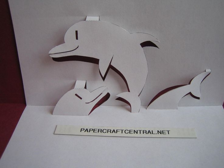paper cutting templates | Kirigami Paper Cut Art Decoupage Flipper Dolphin | PaperCraftCentral ...