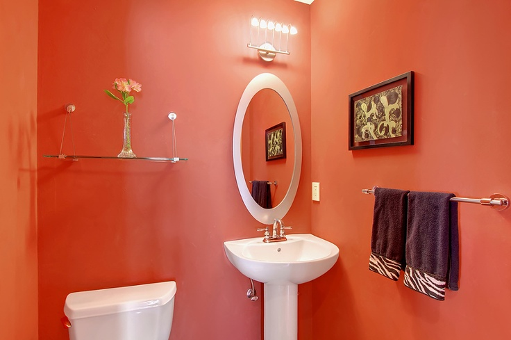 Kirkland Home Remodel Bathroom Beautiful Pedestal Sink And Bright Color Monet Painting And