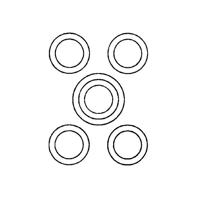"""FBI-CIR 5 Circle target. Black. Size; 23"""" x 35"""""""