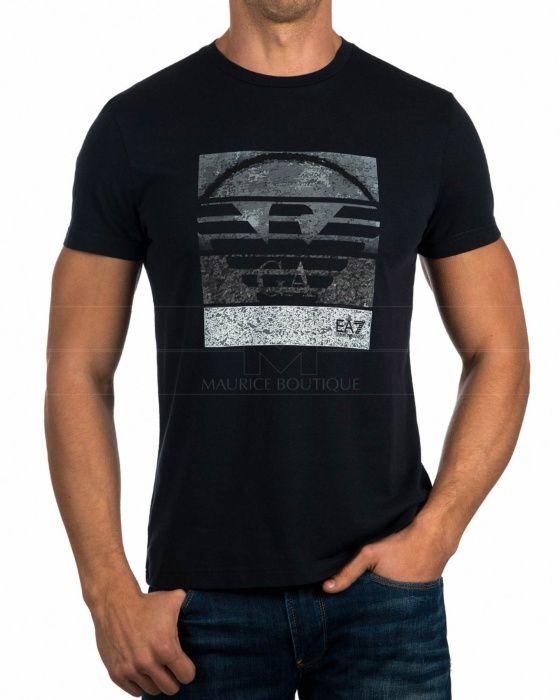 Camiseta Armani EA7 - Azul Marino & Gris