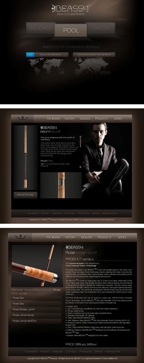 Beassy brand portal subpage designs