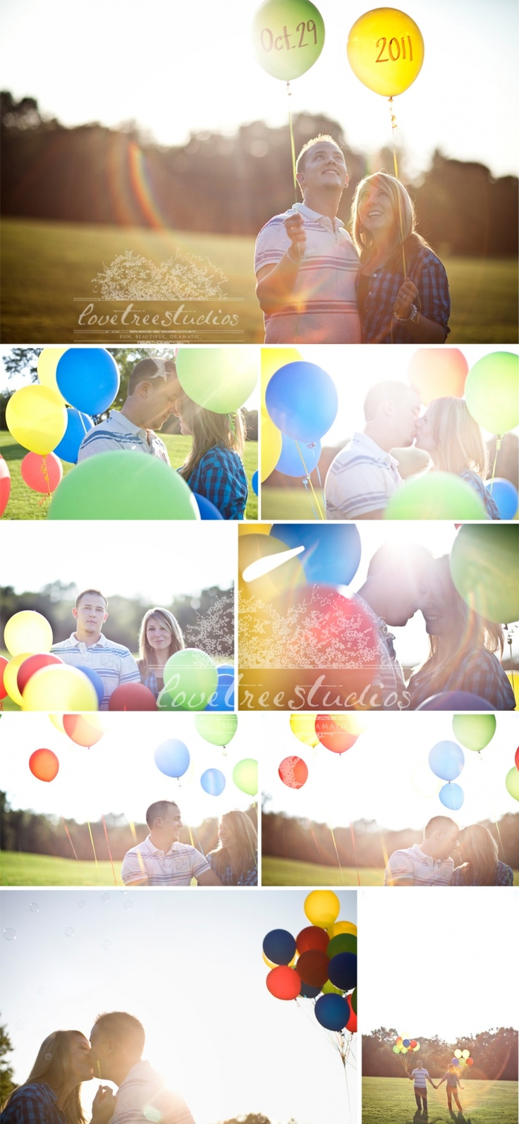 We love this save the date balloons photo shoot. Be sure to include balloons in your wedding photos too