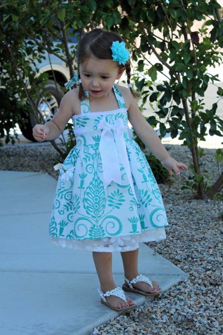 Girl's Dress sewing tutorial PDF children's clothing PDF Bowtie Halter dress. $6.49, via Etsy.