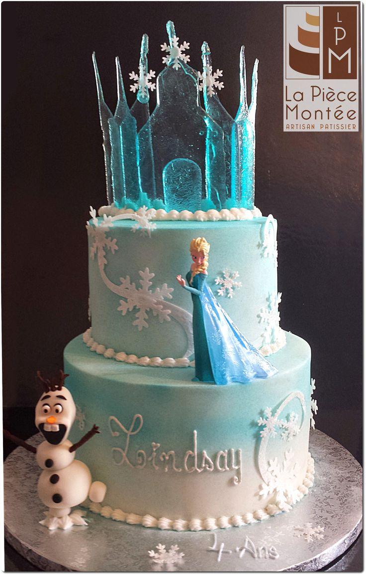 25 best ideas about frozen cake designs on pinterest for Decoration porte reine des neiges