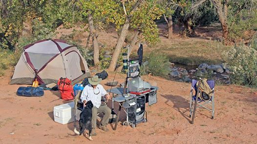Camping and fishing in southern Utah during October. Camp kitchen, four man tent and great weather make fall camping in the southwest easy and fun.
