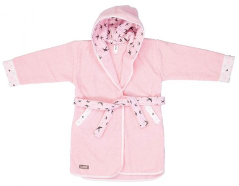 Pastel Pink Bath Robe - Pastel Pink Bath Robe - Luma Babycare Australia